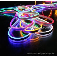 Горячая распродажа 110 В/220 В 120leds/м RGB СИД SMD 2835 5050 гибкий мягкий светодиодный неон веревку стрип-бар свет