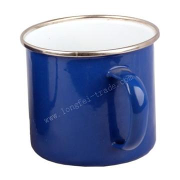 Blue Rimmed 5/6/7/8/9/10/11/12mm Porcelain Enamel Mug Cup
