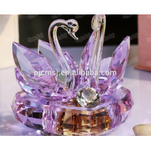 Boîte à musique Purple Crystal Swan pour le cadeau de souvenirs de mariage