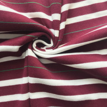 Cotton colorful striped  rib fabric