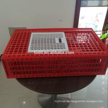 mejor venta de jaulas de plástico de transporte de pollo vivo para la granja de matanza