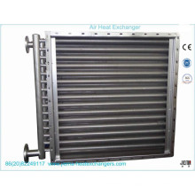 Trocador de calor de ar para secagem de madeira