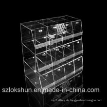 Top Grade Crystal Acryl Display Racks, Foods Store Display Ständer, Acryl Trays