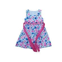 Moda roupas e saia crianças no vestido novo estilo menina (sqd-114)