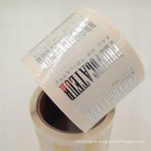 pegatina de perfume material transparente para cosmética