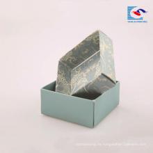 Caja de papel de cartón duro de papel directamente duradera de fábrica para el embalaje de jabones hechos a mano