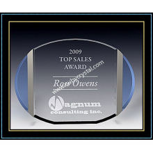 "Crystal Award Plaques / ovale Plakette 5 ""H (NU-CW723)"