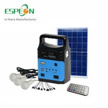 Fora de uso doméstico de grade ao ar livre 10W interior kit de energia solar