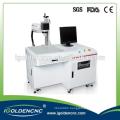 Optical 10W 20W 30W fiber laser marking machine on silver jewelry with mini fiber Color laser marking machine