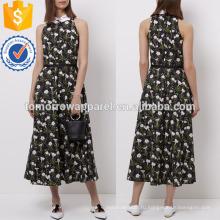Цветочный Принт без рукавов с воротником платье Производство Оптовая продажа женской одежды (TA4053D)