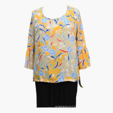 Women Summer Print 2020 Fashion Banded Blouses