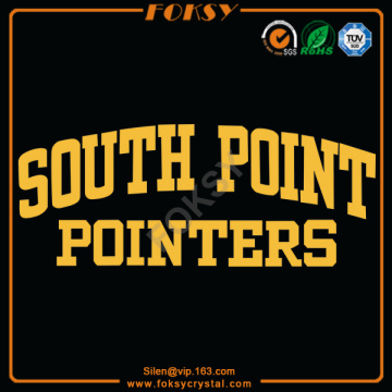South Point Pointers satin iron on letters