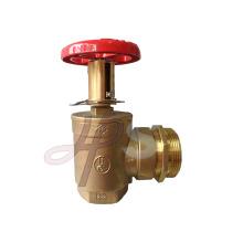 Válvula de aterrizaje de la boca de incendios de la brida de cobre amarillo de alta calidad