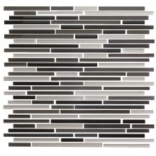 Carreaux de mosaïque en pierre de verre en forme de bande de 300 * 300 mm