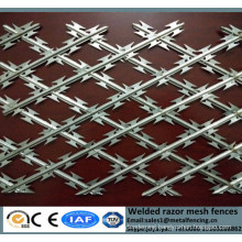 New machine welded BTO type fences for security edge protective diamond mesh grills barbed wire fencing panels with sharp razor