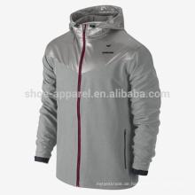 2014 Sweatless Herren Trainingsjacke mit durchgehendem Reißverschluss