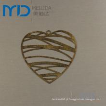 Resultados elegantes da jóia de Heartshape com projeto filigrana de bronze para vendas