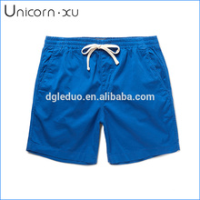 Blue stretch-cotton board shorts quick dry promotion swimming shorts