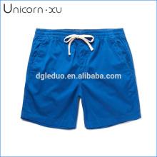 Calções de algodão stretch-azul de secagem rápida promoção calções de natação