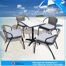 Mobilier d'extérieur chaise en rotin synthétique ps-bois set de table
