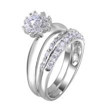 anillo de la joyería de moda pareja anillo anillo chapado en oro pareja joyería