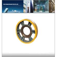 Mitsubishi elevator wheel, elevator traction wheel, elevator pulley 610x5x14