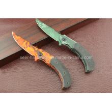 G10 cuchillo que acampa de la manija (SE-430)