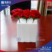 Оптовая роскошная акриловая коробка цветов с 3 отсеками