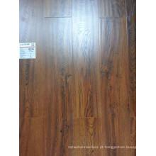 Cobertura em cera em relevo sincronizada HDF Pressed Bevel Laminate Flooring