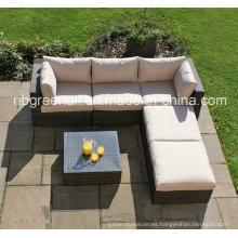 Mobiliario moderno de mimbre clásico del patio del jardín de mimbre