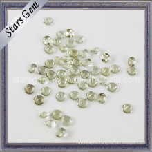 Light Yellow Round Shape Fancy Cut Natural Quartz