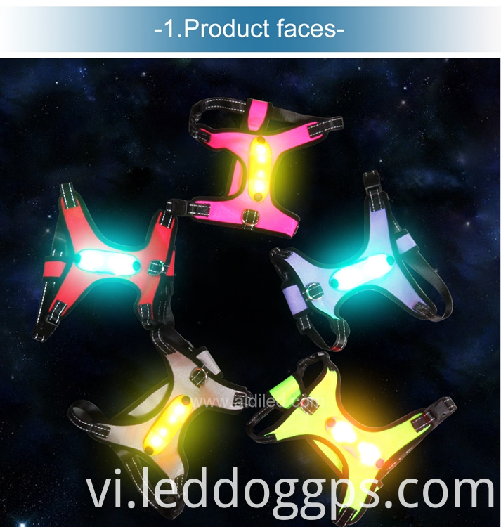 Nylon Webbing Led Dog Harness