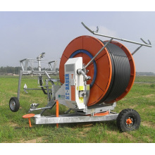 Farm Travelling Irrigator/Agriculture irrigation Equipment Aquajet hose reel irrigation for middle size farmland