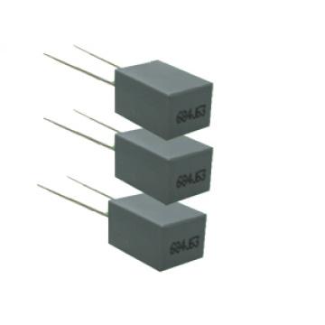 Mini caixa Capacitor de filme de poliéster 5mm