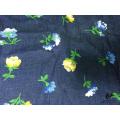 100% Cotton Flower Printed Denim