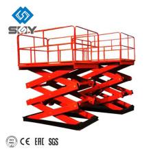 Pequeña tabla de elevación hidráulica estacionaria / elevación de tijera / tabla de elevación eléctrica