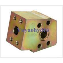 Special Forged Junction Block for Construction Machinery Hyundain