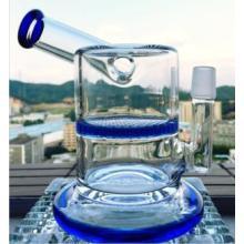 18mm Gelenk Mini Größe Glas Wasser Rohr Bienenwabe Perc Rauchen Rohr Seite Dount Öl Rig Vapor Rig