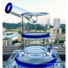 6.5inch altura tubo de agua de vidrio pipa de fumar nido de abeja perca martillo forma de vidrio tubería de agua