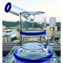 6.5inch Hauteur Verre Tuyau d'eau Tuyau à fumer Nid d'ambre Perc Forme de marteau Verre Tuyau d'eau