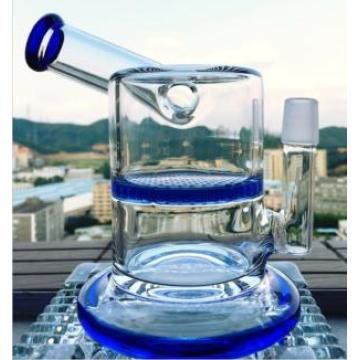 18mm Joint Mini Size Glass Water Pipe Honeycomb Perc Smoking Pipe Side Dount Oil Rig Vapor Rig