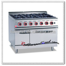 Cocina de gas K013 Heavy Duty 6 quemadores