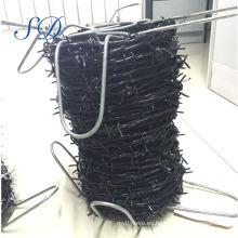 Fábrica de la cerca del alambre de púas revestido del pvc