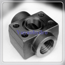 SAE Double Weld in Pipe Line Tee Connector Flanges Block
