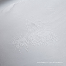 Tecido jacquard branco para cama (WSF-2016005)