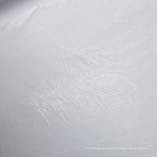 Белая ткань жаккарда для постельных принадлежностей (WSF-2016005)