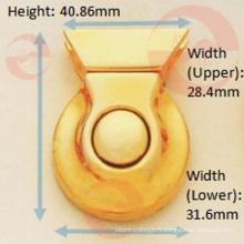 Verrou à poussoir à point unique en métal en alliage de zinc couleur doré