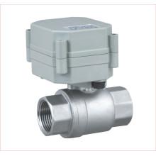Dn15 Válvula de bola de acero inoxidable de 2 vías DC5V de 1/2 '' Válvula de control motorizada para agua potable