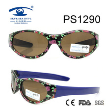 Vintage Model Flower Colorful Kid Plastic Sunglasses (PS1290)