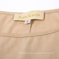 Kate Kasin Womens Casual suelta Long Batwing manga Tan vestido de alta-baja KK000706-2